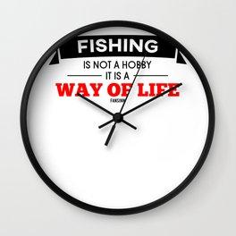 Hobby fishing fish peace gift Wall Clock