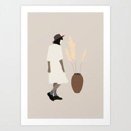 Minimal Art Girl 8 Art Print