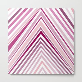 Pink gradient modern abstract stripes pattern Metal Print