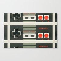 nintendo Canvas Prints featuring Nintendo  by Cloz000