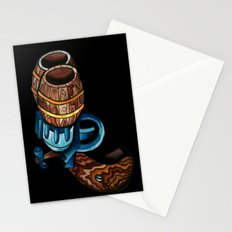 Black Double Barrell Stationery Cards