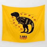 dino Wall Tapestries featuring Dino Deli by victor calahan