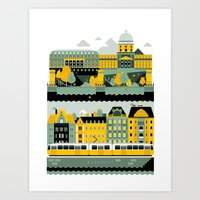 budapest Art Prints featuring Budapest by koivo