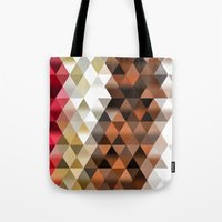 triangle Tote Bags featuring Triangle by Susann Mielke