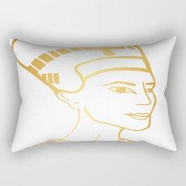 Golden Egyptian Queen Nefertiti Rectangular Pillow