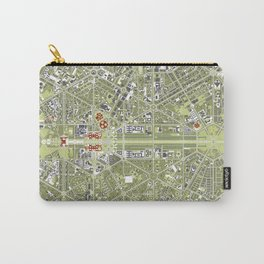 New Delhi map engraving Carry-All Pouch