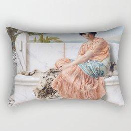 In the Days of Sappho Rectangular Pillow