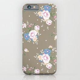 Heirloom Rose - Raw Umber iPhone Case