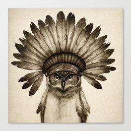 Owl Cheif Canvas Print