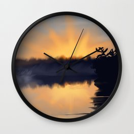 Sky on Fire Wall Clock