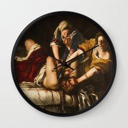 Judith Slaying Holofernes by Artemisia Gentileschi Wall Clock