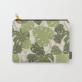 Cliff Hanger Monstera Leaf Hawaiian Print    Carry-All Pouch