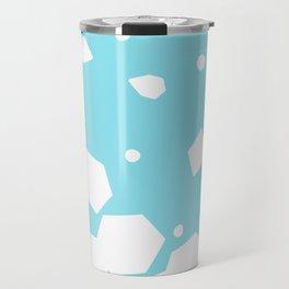 Rockery on Blue - Abstract Art Travel Mug