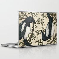 good omens Laptop & iPad Skins featuring Good Omens by Jessica Roux