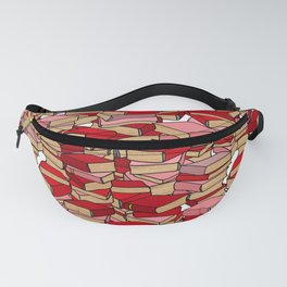 Book Collection in Red Fanny Pack