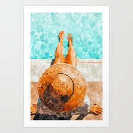 By The Pool All Day Art Print