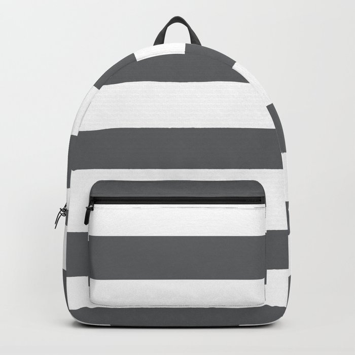 Simply Striped in Storm Gray and White Backpack