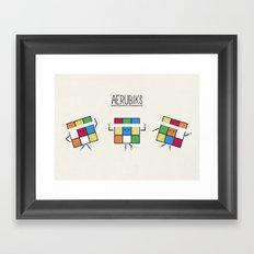 Aerubiks Framed Art Print