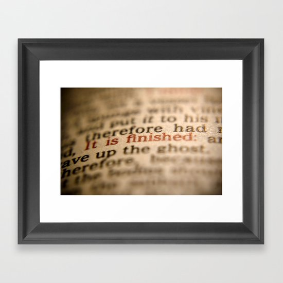 It Is Finished Framed Art Print