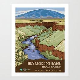 Vintage poster - Rio Grande Del Norte Art Print