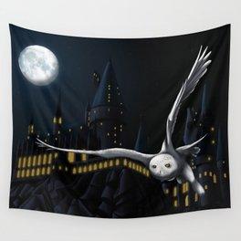 Hedwig's flight at Night Wall Tapestry