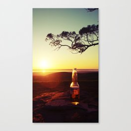 Sunset & Beer Canvas Print