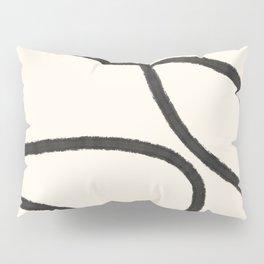 Thick Continuous Line Series 3 | Boho Home Decor, Modern Wall Art, Continuous Line Art, Contour Line Pillow Sham