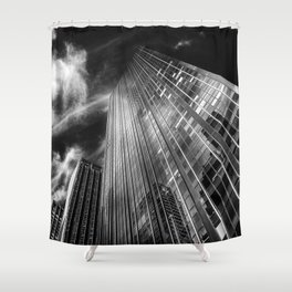 Towers and clouds Shower Curtain