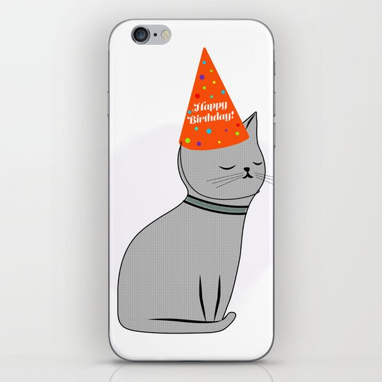 Birthday Cat iPhone & iPod Skin