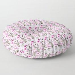 Evening Walk Canvas texture print Floor Pillow