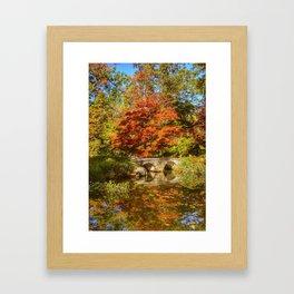 Japanese garden at Maymont Park Framed Art Print