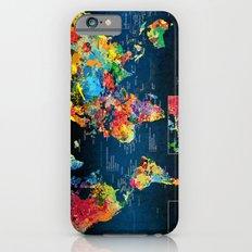 World Map Black Background 2 iPhone 6 Slim Case