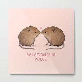 Relationship Voles Metal Print