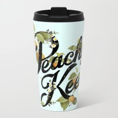 Peachy Keen : Mint Metal Travel Mug