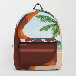 Dubai travel poster Backpack