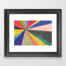 Watercolor Pinwheel Robayre Framed Art Print