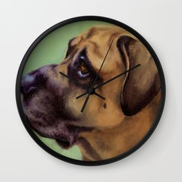 Rex - Portrait of a dog Wall Clock