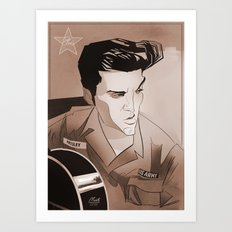 Serving Elvis Art Print