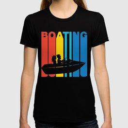 Retro Style Boating Boat T-shirt