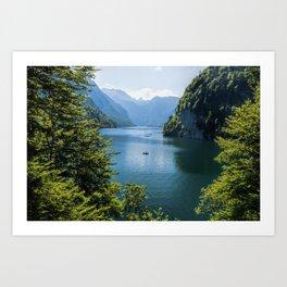 Germany, Malerblick, Koenigssee Lake III- Mountain Forest Europe Art Print