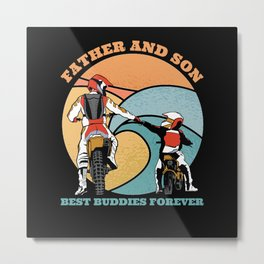 Father And Son Best Friends Forever Metal Print