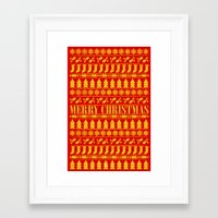 merry christmas Framed Art Prints featuring Merry Christmas by Fimbis