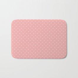 Two Tone Bright Blush Pink Mini Love Hearts Bath Mat