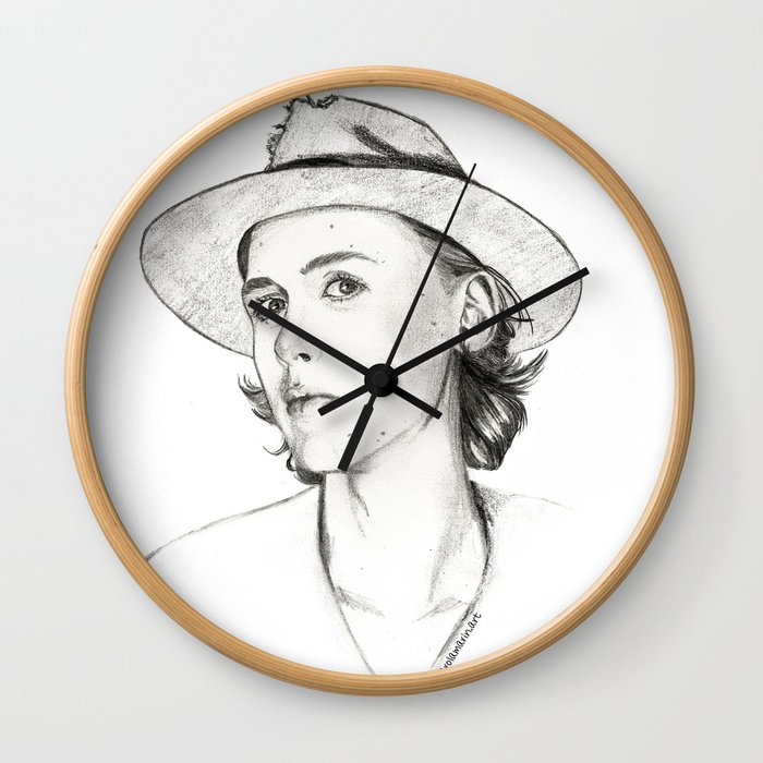 Henrik Holm drawing Wall Clock