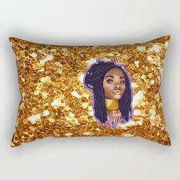 Gold / Glitter Rectangular Pillow