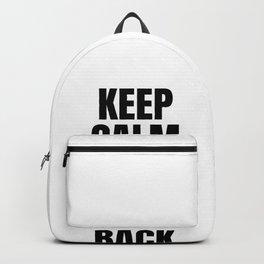 Keep Calm Ice Hockey Hockey Sport Puck Gift Backpack