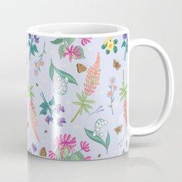 Violets Honeysuckle & Lavender Pattern Coffee Mug