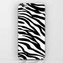 modern safari animal print black and white zebra stripes iPhone Skin