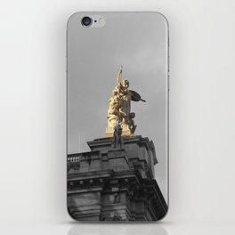 Paris architecture black and white with color GOLD iPhone Skin