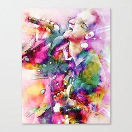 Bono singing Canvas Print